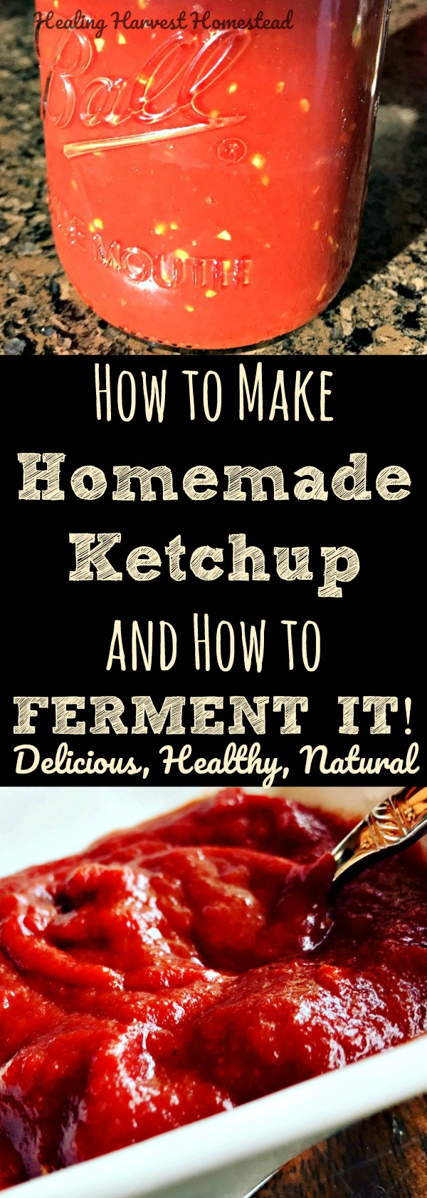 Are you tired of buying processed ketchup? I know we were, so we started a campaign in our family to make things our selves! It's EASY! It's HEALTHIER! And, guess what? You can ferment to make the foods even healthier and last longer. Here is my recipe for homemade ketchup and how to ferment that homemade ketchup too! Enjoy!