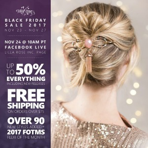 Don't miss this sale! Lilla Rose Hair Accessories make the BEST gifts for all hair types. They are beautiful and special.