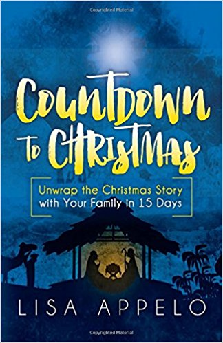 From my new friend, Lisa. I met her on a Christian blogging site, and I've been reminded. :-) Her book,  Countdown to Christmas , is a 15-day Advent devotional centered around the Nativity. If you are a busy family, it's the perfect way to remember.  She has it on Amazon , too!