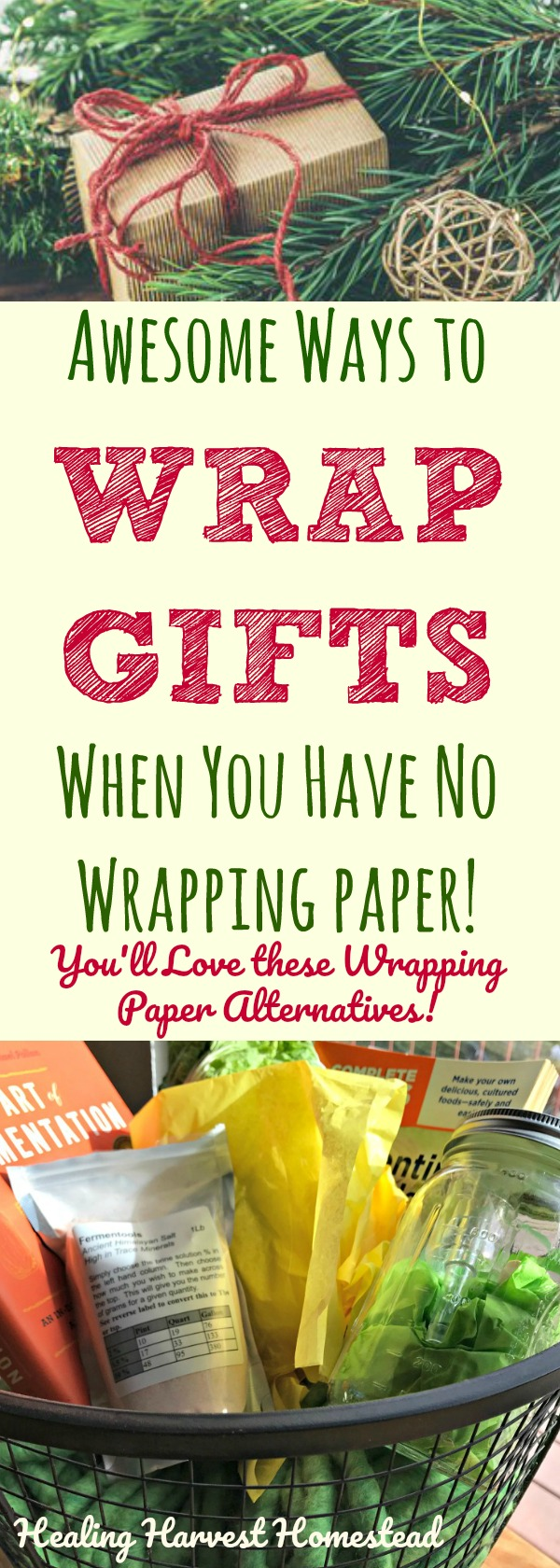Have you ever run out of wrapping paper and needed to get the job done? Are you just tired of wrapping paper waste? Or the COST? Egads! Here are ways to wrap presents when you don't have any wrapping paper handy! These alternatives to using gift wrap and wrapping paper save money, are creative, and I bet your friends & family will love these best! In a present wrapping jam? Find out how to wrap gifts without paper!