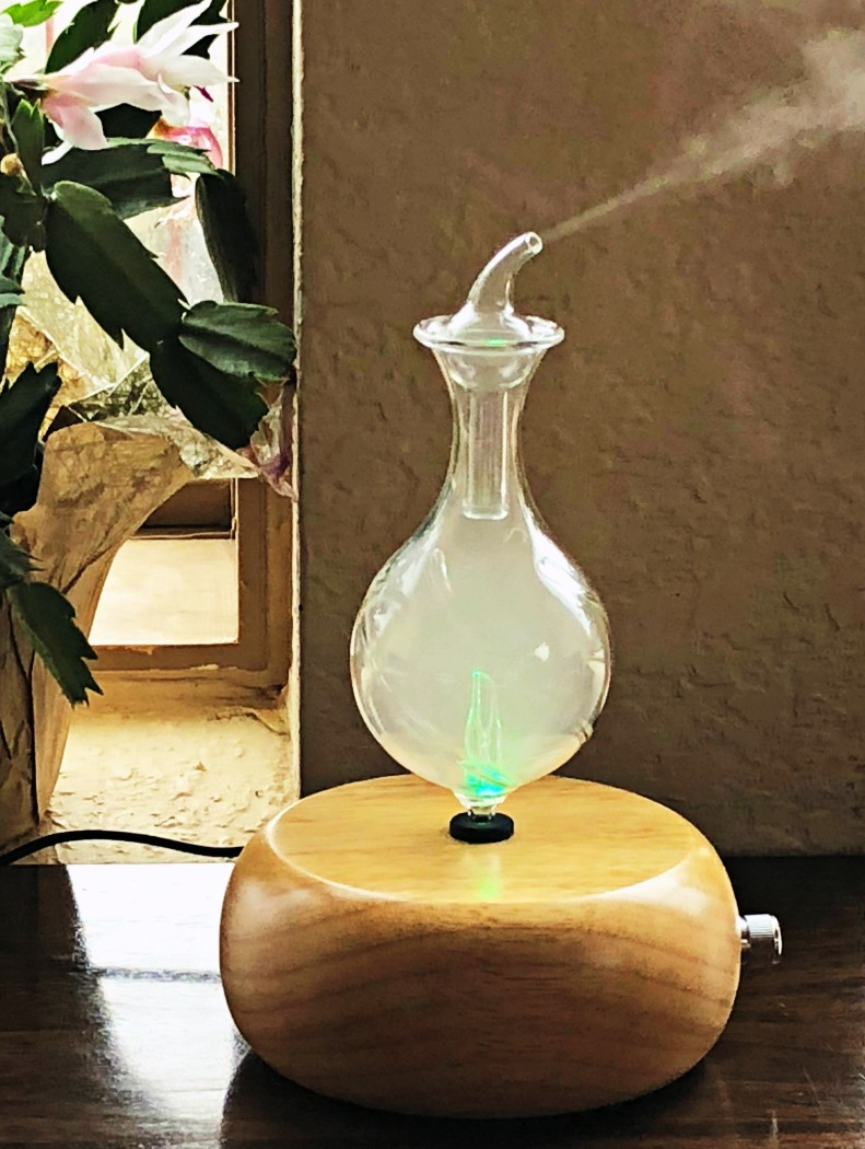 Here is an example of a  quality nebulizer . There is NO heat or water involved in this method. A nebulizer is the best way to diffuse essential oils.