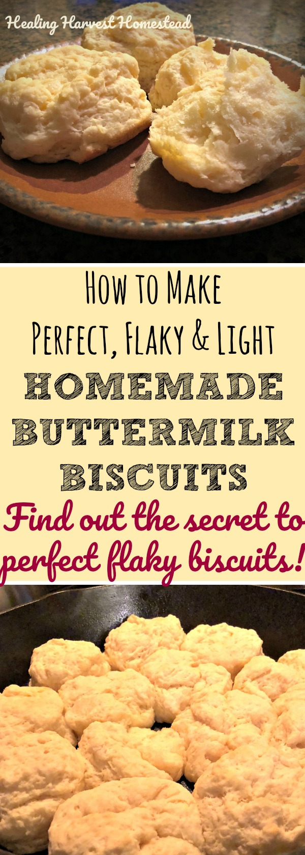 Have you been searching for the perfect, flaky, layered, light & fluffy homemade buttermilk biscuit recipe? YOU'VE FOUND IT! You'll love this buttermilk biscuit recipe--It's easy! It's fast! These are the best buttermilk biscuits I'll be you ever eat. You need this biscuit recipe, especially if you've been wondering how to get your biscuits more flaky and light!