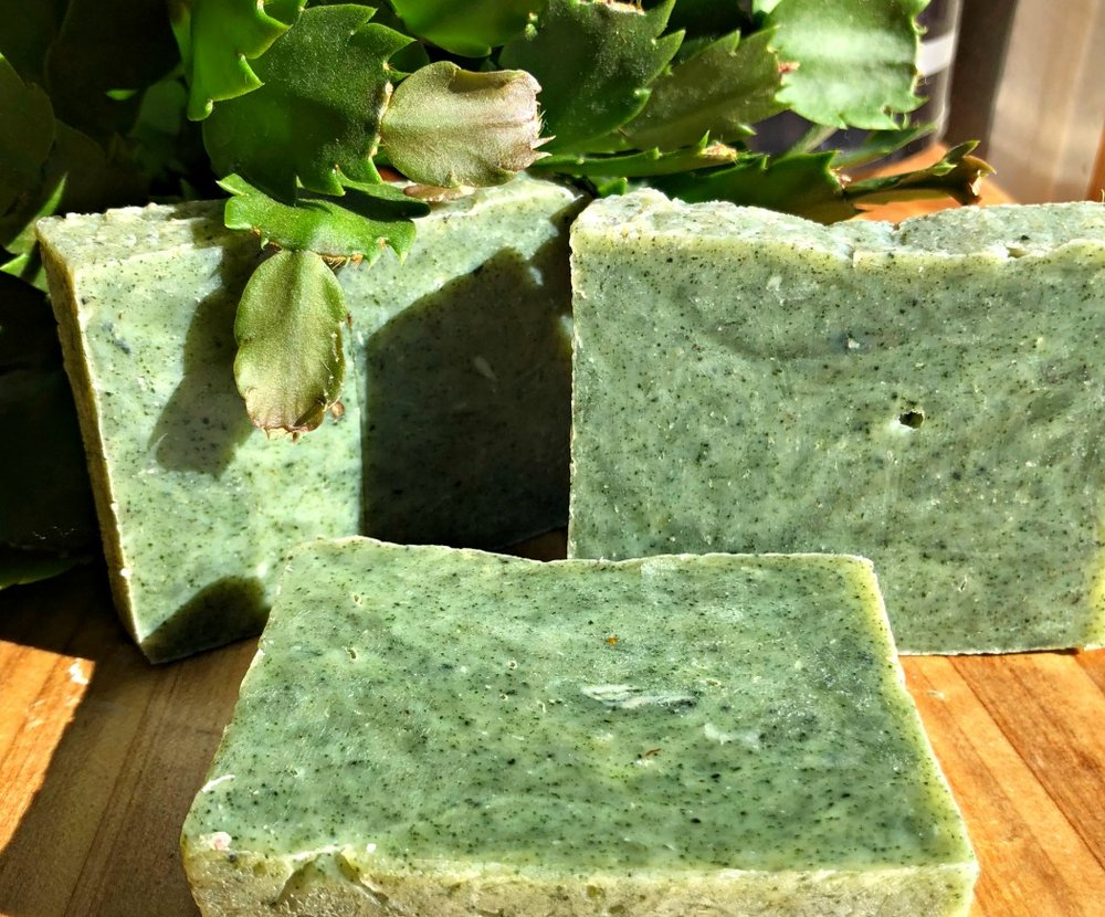 Here's Hunk O' Man soap---the perfect combination of Pine & Peppermint. Your man will LOVE this soap!