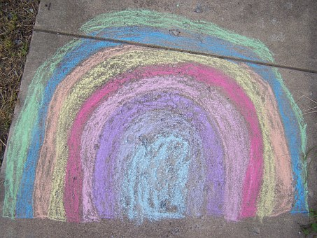 You can make your own sidewalk chalk from calcium powder----Isn't that too cool?