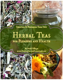 Learn all the herbal basics about creating your own tea blends in my eBook,  Creating & Preparing Your Own Herbal Teas.  I've also included recipes for you to start out with, along with lists of great herbs to use so you can get creative!