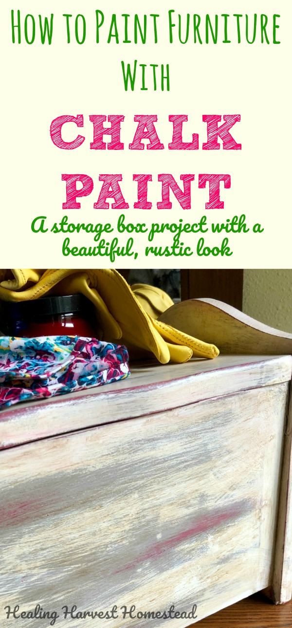 Chalk paint! I think I'm in love. Find out how to paint unfinished wood so it has a beautiful, rustic distressed look. I used three colors, and now have an awesome little piece of furniture. Directions for painting a wood storage box using chalk paint with a rustic, distressed finish.