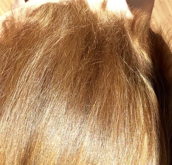 Here's my hair with henna---Shiny and healthy looking.