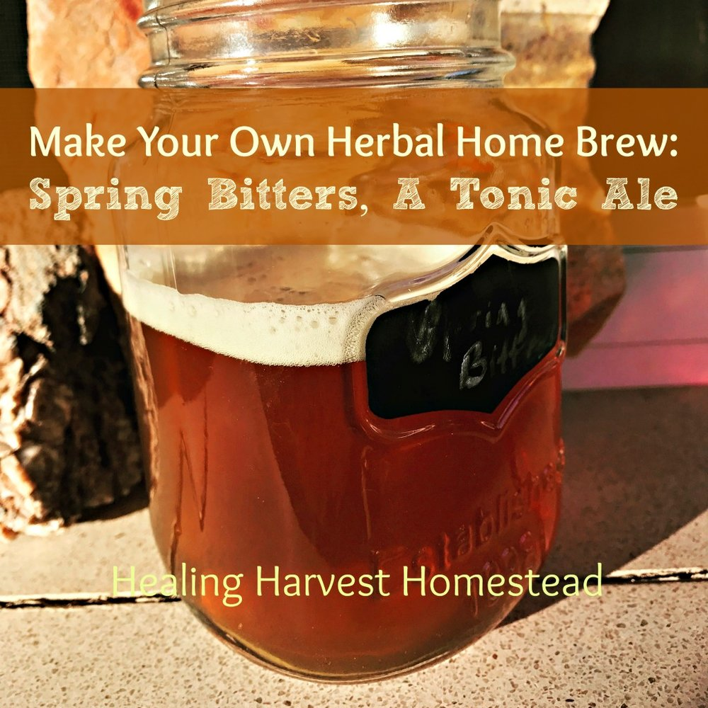 Making your own beer is fun, interesting, and empowering. It's also a lot healthier for you. Here is my  Spring Bitters Ale .