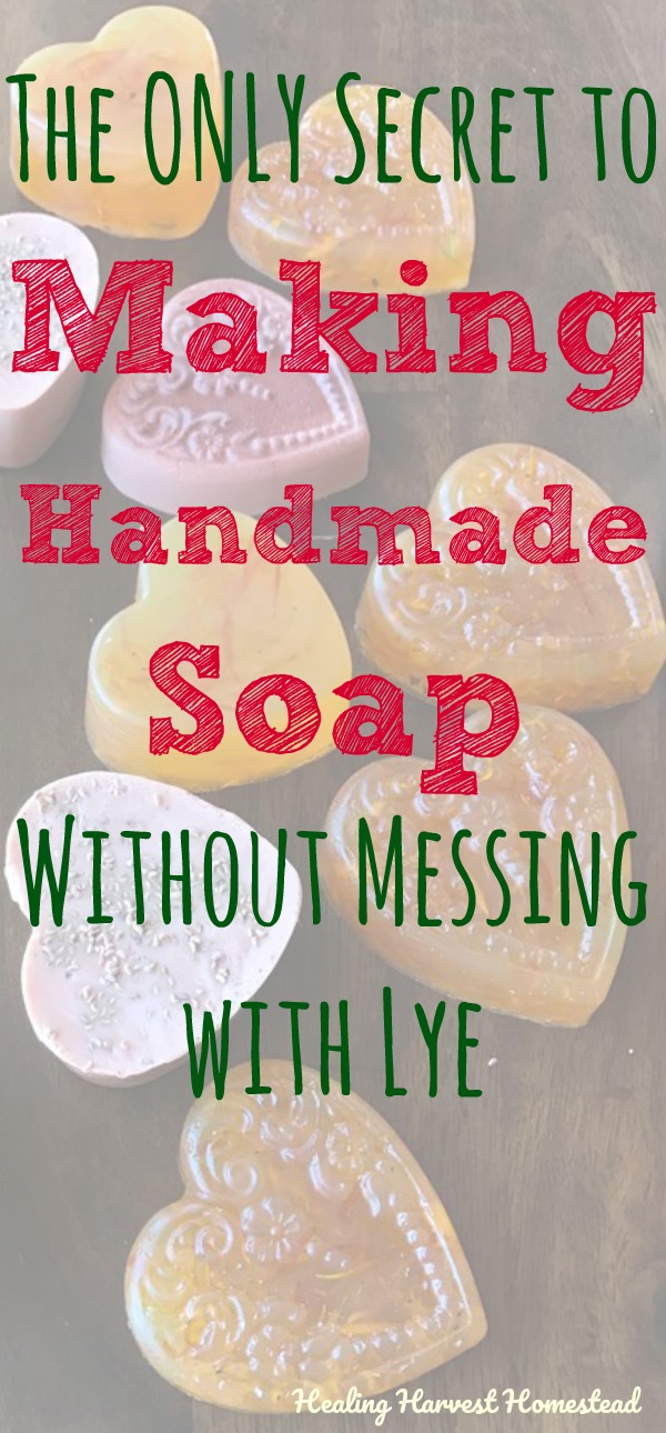 Can you make handmade soap without using lye? Here's the ONLY secret way to create your own natural soaps and not have to mess with lye. The simple answer to this question is Yes. And also No. Find out the details, plus instructions for making your own soap even a child can do! This is a great project to get kids excited about making their own soaps too.
