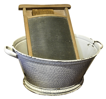 An old fashioned  washboard  and tub would be useful in an emergency situation, especially if it lasted for a while.