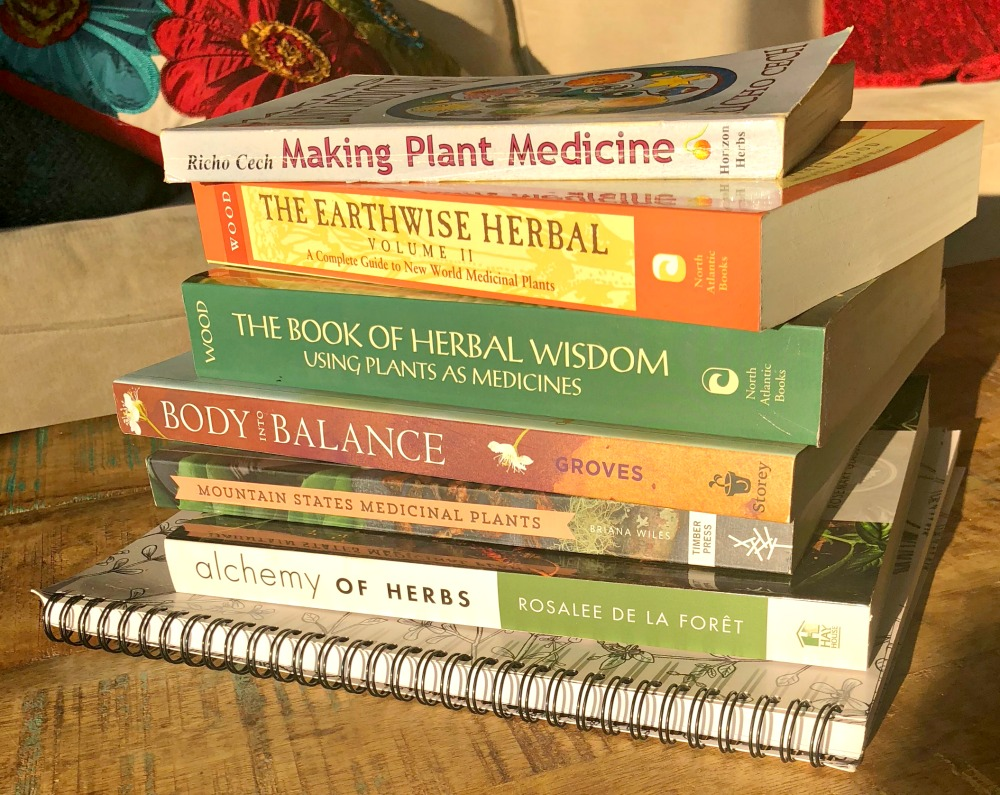 Just a few of the many herbal books in my library----