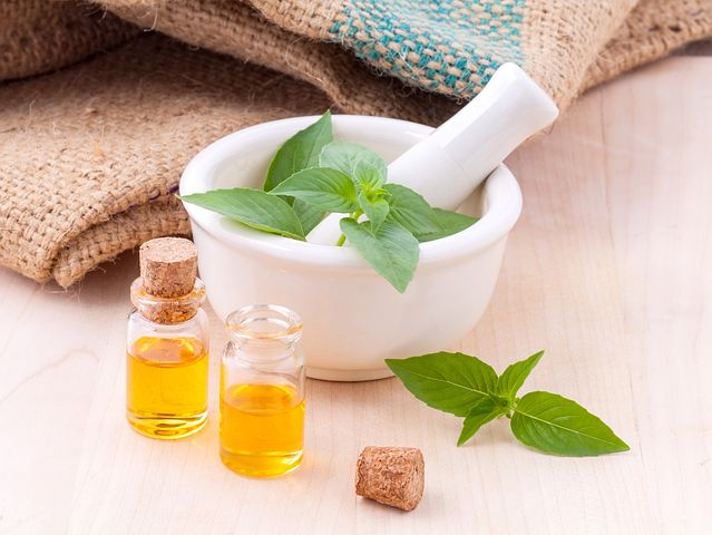 Herbs and essential oils are both excellent healing helpers.