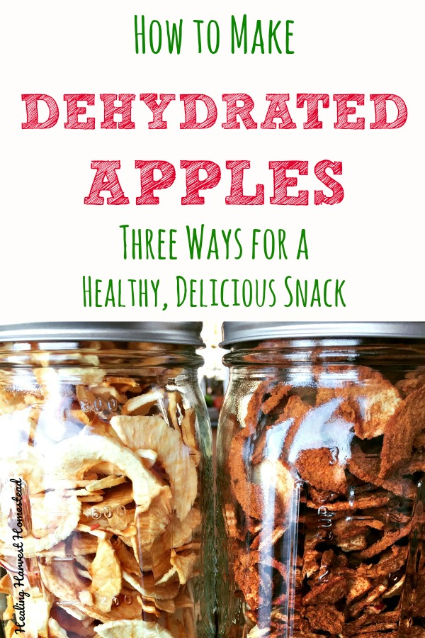 Have lots of apples this harvest season? Here is something EASY you can do with all those apples: dehydrate them for a healthy snack any time! These last for many months (even years) when stored properly, and these apple snacks are so simple to make. This is one of the best healthy ways to preserve your apples. #preserve #dehydrate #apples #dehydrated #cinnamonapples #healthysnack #easy #delicioussnack #lunches #easyschoollunch #afterschoolsnack #snack #paleo #healthy