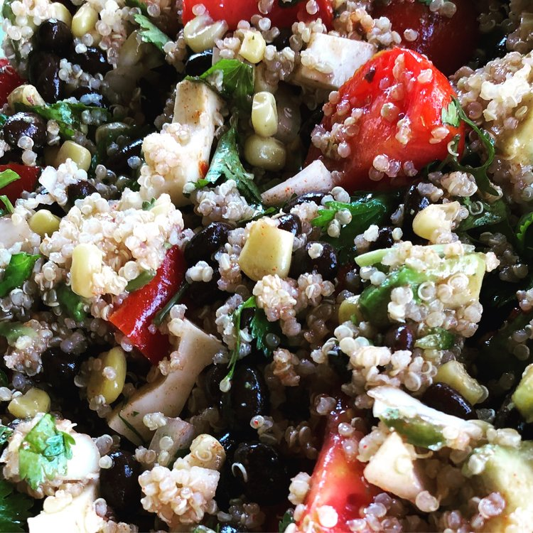 This  Summer Fiesta Quinoa Salad  is delicious...and healthy!