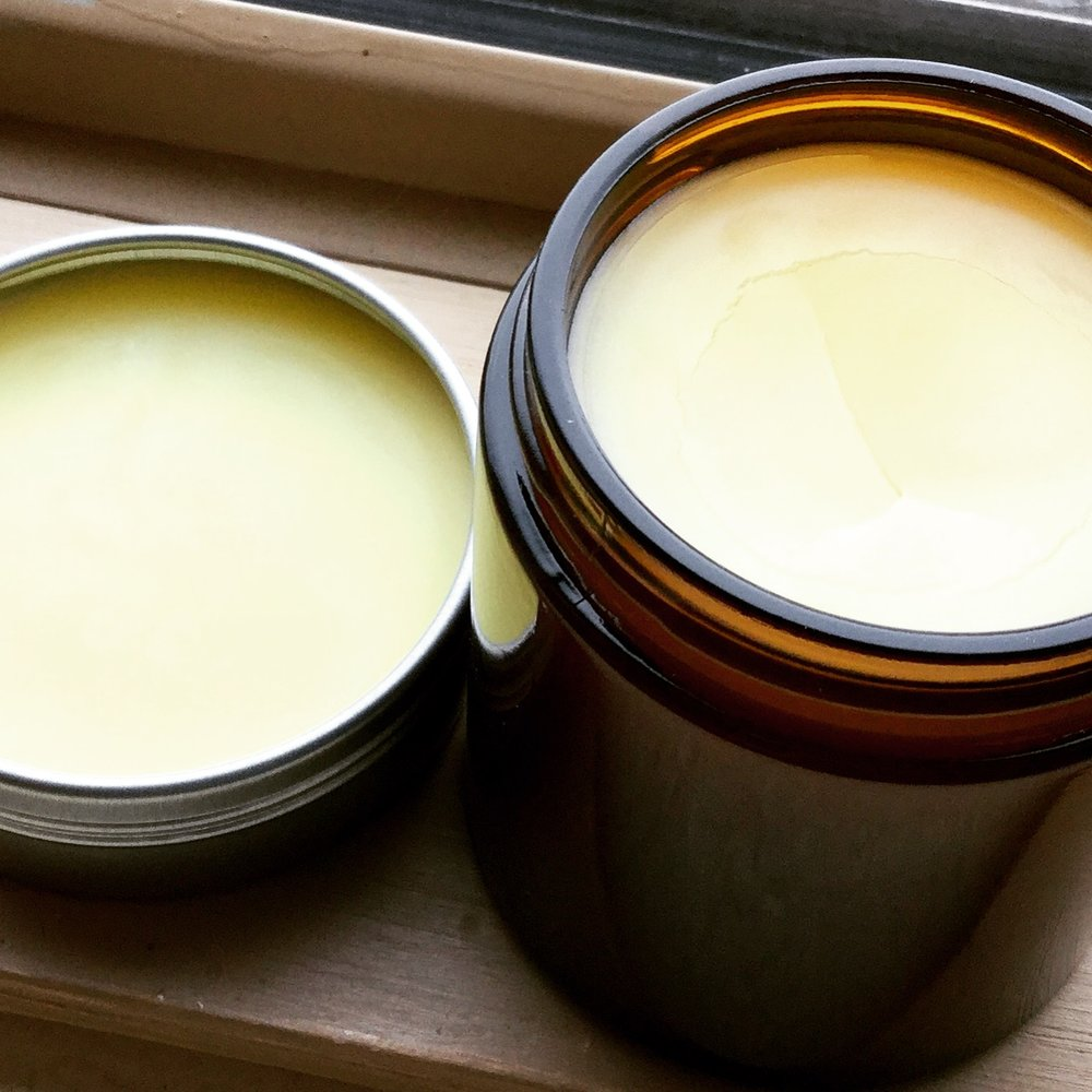 Homemade  Vapor Rub Salve  helps open the breathing passages.