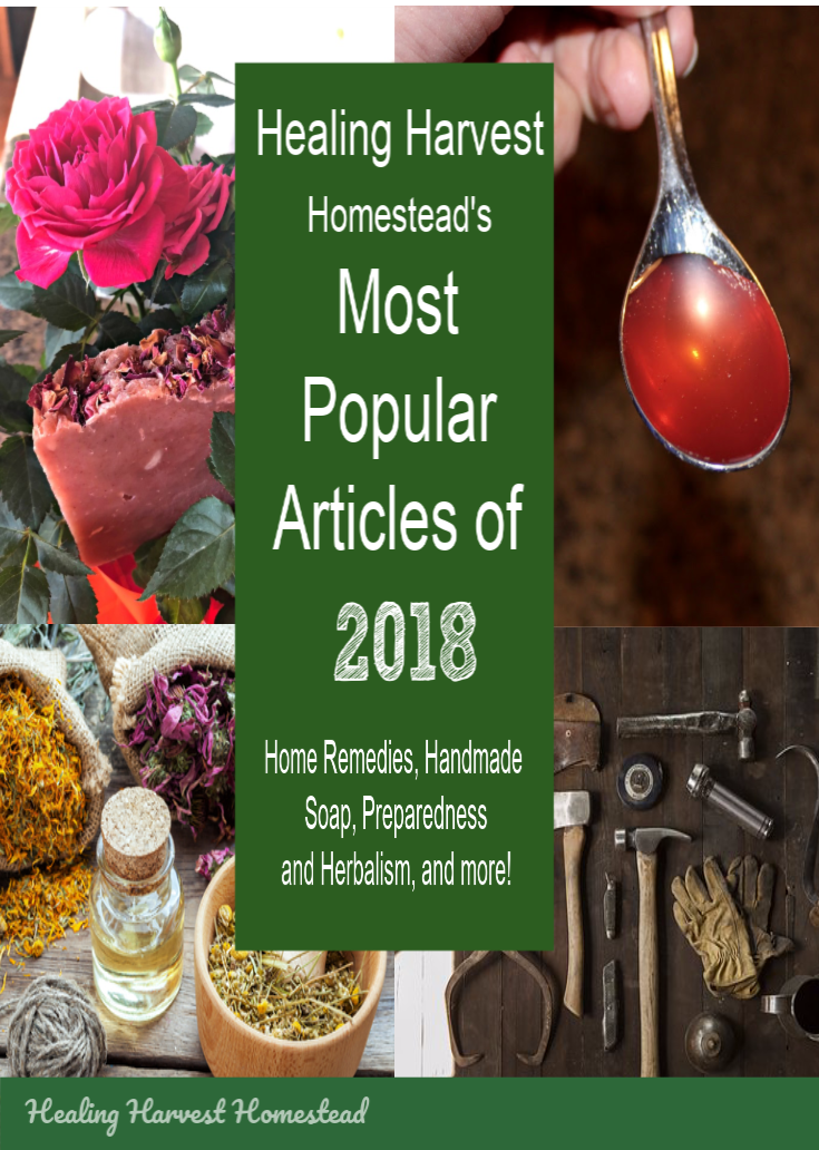 Healing Harvest Homestead is two! Here are the most popular articles on the blog for it's second year: 2018. Enjoy these soap making, home remedies, preparedness, and herbalism articles that will help you along in your self-reliant journey…No matter where you live! #mostpopular #articles #healingharvesthomestead #prepping #preparedness #handmadesoap #homeremedies