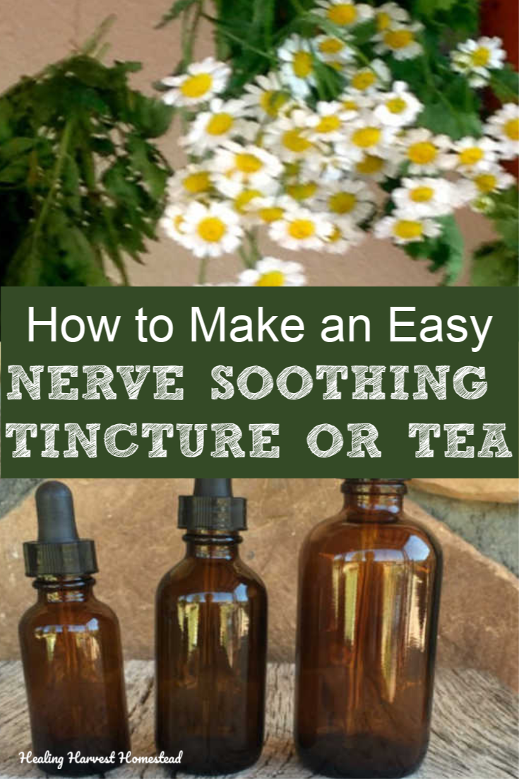 Had a bad day? You just need a quick soothing remedy for your nerves? Well, here is an herb blend you can make with only three herbs. You'll find an easy tea recipe and an easy tincture recipe if you prefer that method. It's a WIN! You might even be growing these incredible plants in your garden right now. Click here for this tea recipe that will help with your stress levels and headaches. #herbs #howtouse #tea #herbaltea #tincture #howtomake #teaforstress #healingharvesthomestead #calmdown