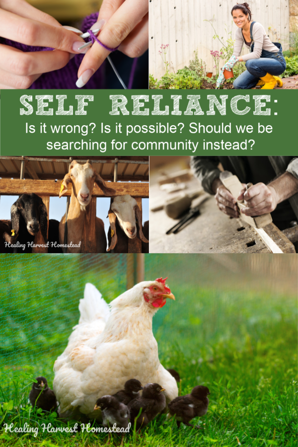 Is it ok to be self-reliant from the world? Is self-reliance even possible? Self-sufficiency is becoming a growing trend, but some are concerned that we are losing community and the desire to reach out to others for help. Find out the surprising truth about self-dependence—-independence from any system you don't want to be beholden to. #selfreliance #selfdependence #selfsufficient #independence #independent #healingharvesthomestead #selfsufficiency