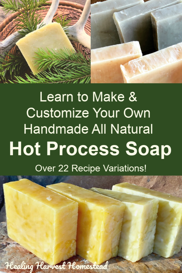 Have you ever wanted to learn how to make your own handmade soap, but something stopped you? Maybe it was fear of working with lye. Or maybe you thought it would be too hard. Or time consuming. Click here to find out how you can learn to make handmade natural soap with confidence and success! Directions are for hot process soap--perfect for using the next day! #hotprocesssoap #howtomake #soap #naturalsoap #soapdirections #handmadesoap #soapforgifts