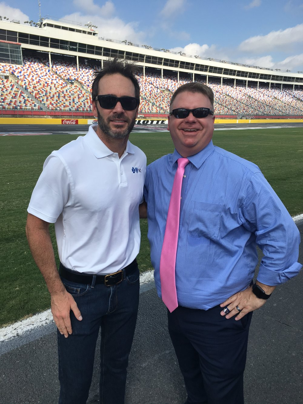 Jimmie Johnson asked if we could swap rides for the day; I told him I didn't think he could handle my Impala.
