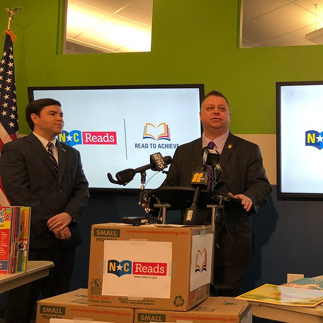 Proud to announce with Superintendent Mark Johnson that an additional $5 million will be sent to 24000 K-3 classrooms for additional reading supplies. That's an increase of $200 directly to each classroom. #ncpol #nced