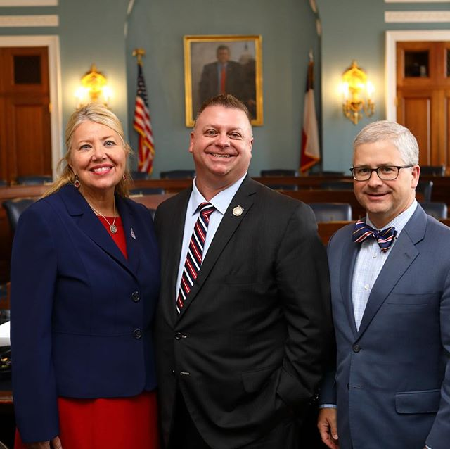 Last week I got to visit with two of my good friends in Congress. It was great to get their perspectives on tax reform, the week that was and disaster relief. Thanks @replesko and @reppatrickmchenry for your leadership and friendship!