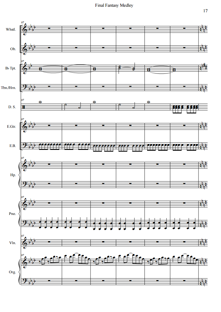 Preview of the Sheet music (Score is 39 Pages total)