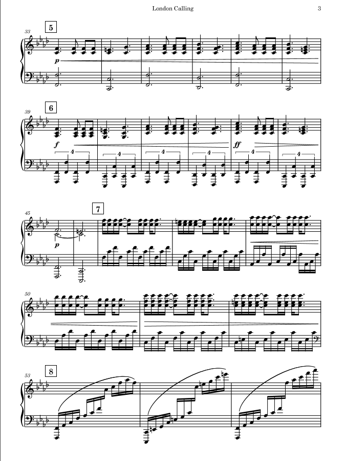 Preview of the sheet music (4 Pages total)