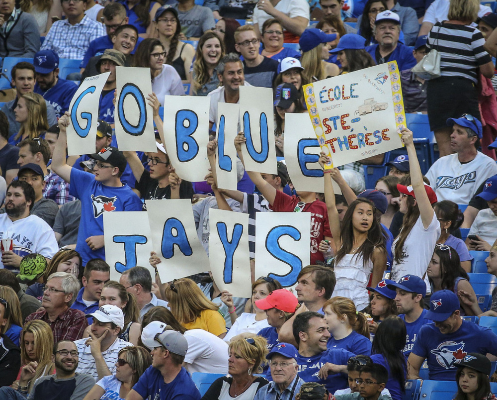 SP-JAYS9JUNE TORONTO, ON- JUNE 9 - Toronto Blue Jays fans show there support for their team during the game between the Toronto Blue Jays and the Minnesota Twins at the Rogers Centre June 9, 2014. David Cooper/Toronto Star