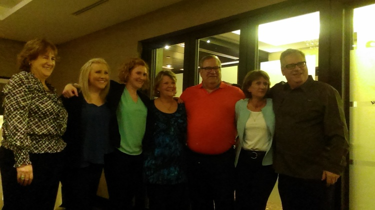 The O'Neills at Joe's retirement party. Spring 2015