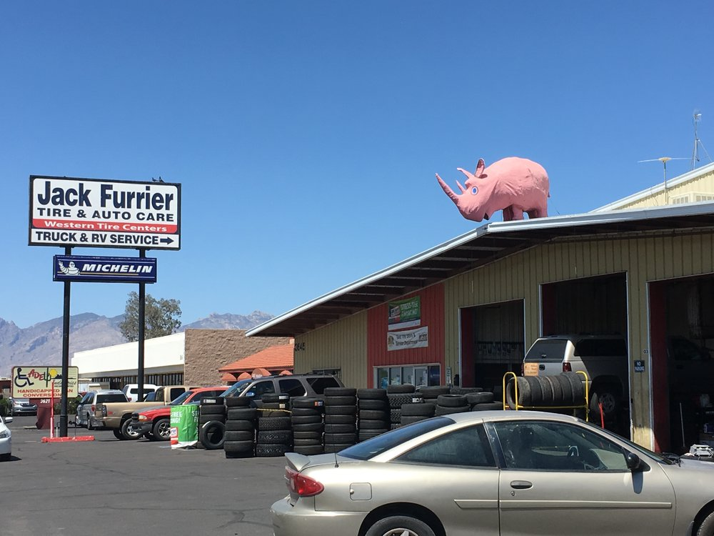 Could Tuffy the rhino be the reason Tucsonans spend vast amounts fixing their vehicles at Jack Furrier? In city full of chain car shops, Tuffy screams local, local, local. Tuffy is a papier-mache wonder. Not to mention a true Tucsonan. My former colleague Veronica Cruz told the  definitive history  of Tuffy.