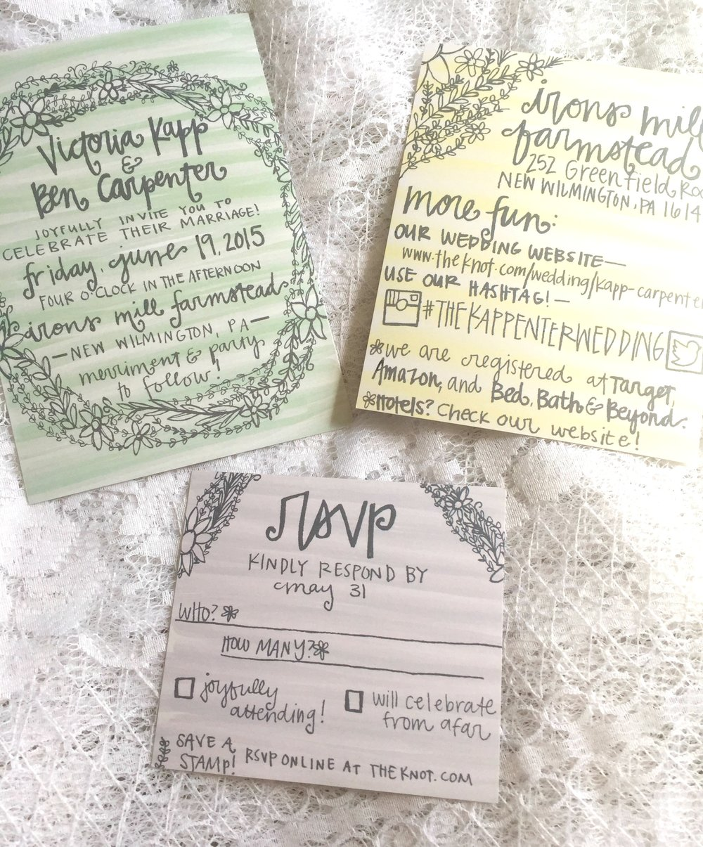 Getting to design all of our paper goods helped me realize my love of wedding stationery.
