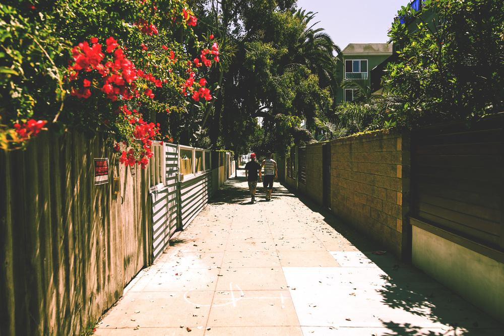 Alleyways to Venice Beach.