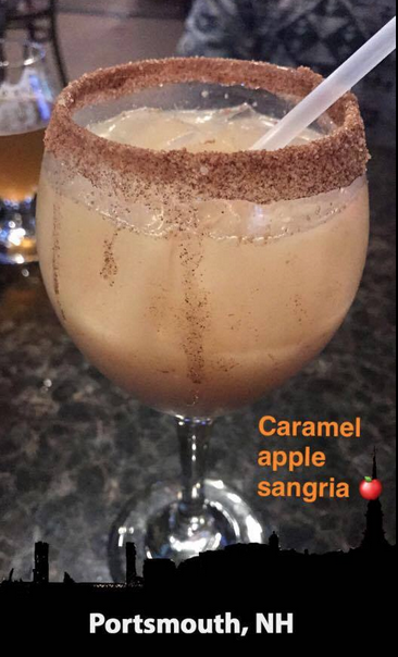 Try a caramel apple sangria and their pretzels *you will be litty titty*