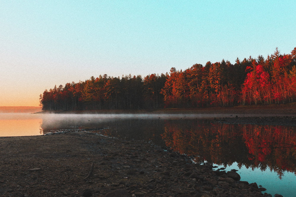Old photo. New Edit. Sunrise at the Reservoir.