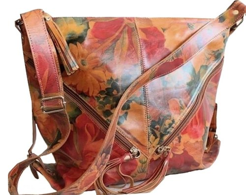 ac4f6d1082b8a Argentinian Floral Leather Messenger Cross Body Bag - Noa-J870 90 ...