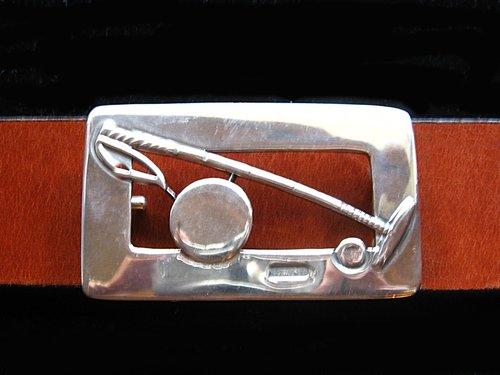 54e0d80c5b Solid alpaca silver belt buckle, polo belt, buckle, mallet, polo player,