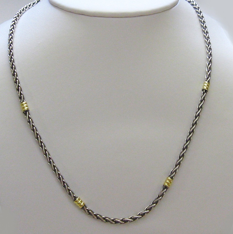 neckchains item portfolio sterling neck mini silver chains gold entwine rose naomi schwartz