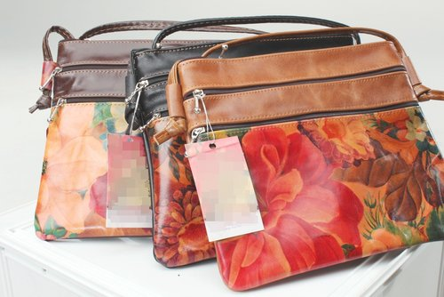 d2ec8dee235b Genuine Floral Leather Crossbody Bag - Remi-B10 30 — Pieces Of Argentina