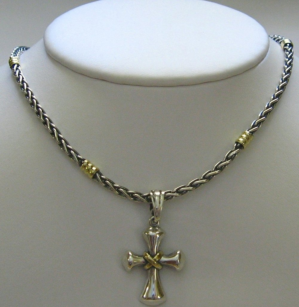 Get all the details, click here -  'Love Knot' cross  pendant.& braided neck chain.  www.PiecesOfArgentina.com