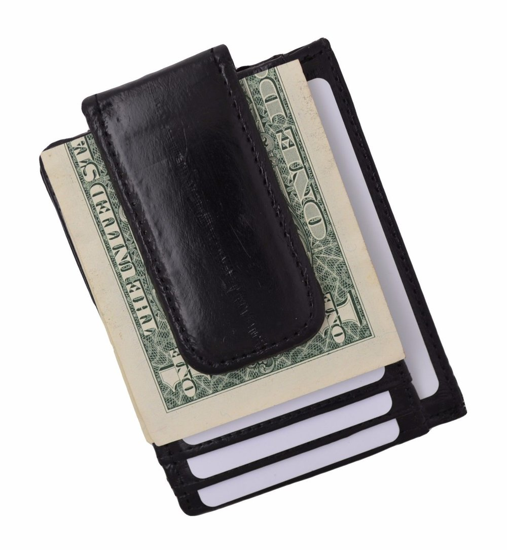Eel Skin - Money Clip / Credit Card Wallet - EEL SKIN ALSO KNOWN AS THE 'SILK OF THE SEA' IS AN OUTSTANDING CHOICE IF YOU WANT A WALLET THAT LASTS! CLICK THIS LINK FOR MORE INFORMATION.