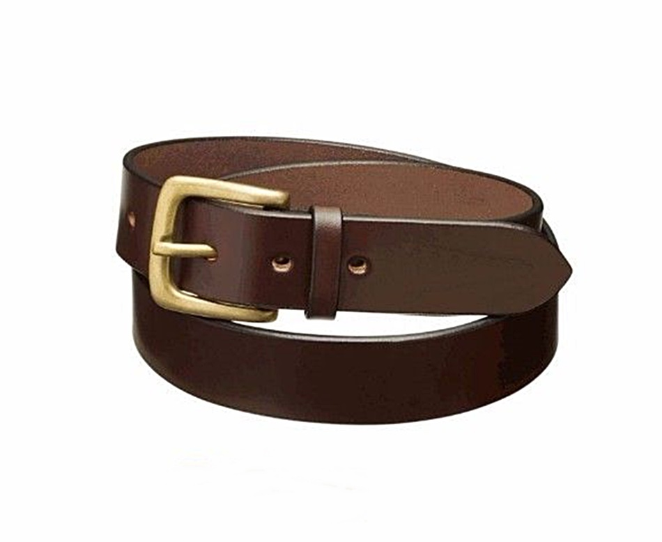 Heavy Bridle Leather Belt with Solid Brass Buckle  - AN AWESOME BELT MADE OF HEAVY BRIDLE LEATHER WITH A SOLID BRASS BUCKLE.THIS MIGHT BE THE LAST BELT YOU EVER BUY! CLICK HERE FOR DETAILS & SIZING.