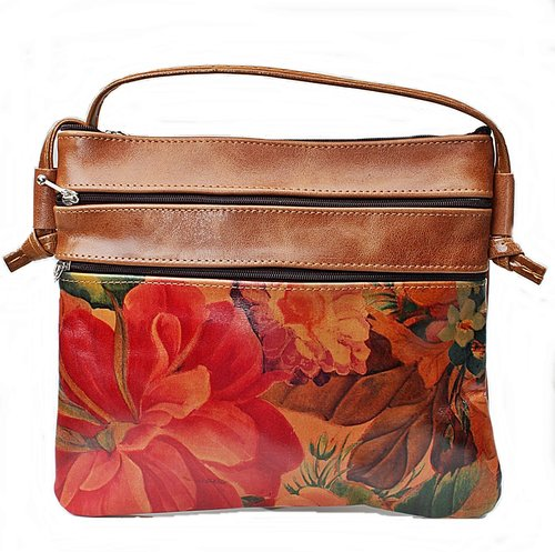 1158396730b5 Genuine Floral Leather Bag - Cross-body Style - Remi-B10 30 — Pieces ...