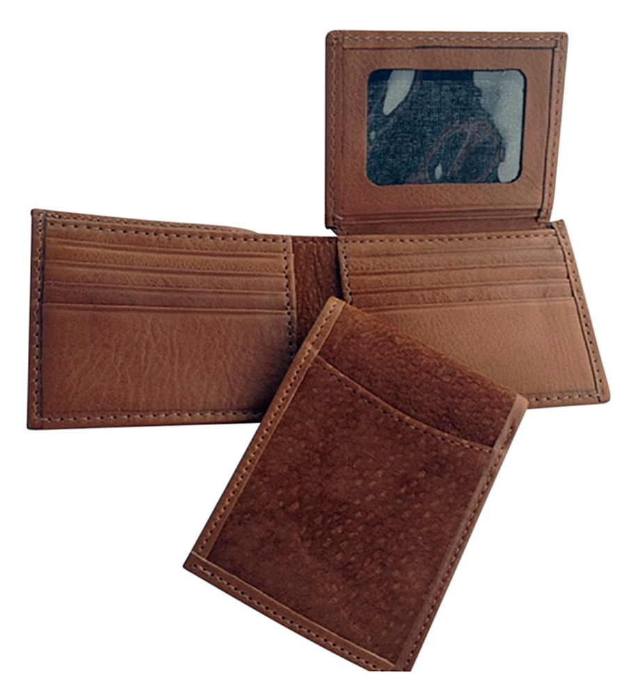 100% Authentic Carpincho (Capybara) Hide Wallet with Argentinian Cowhide Trim
