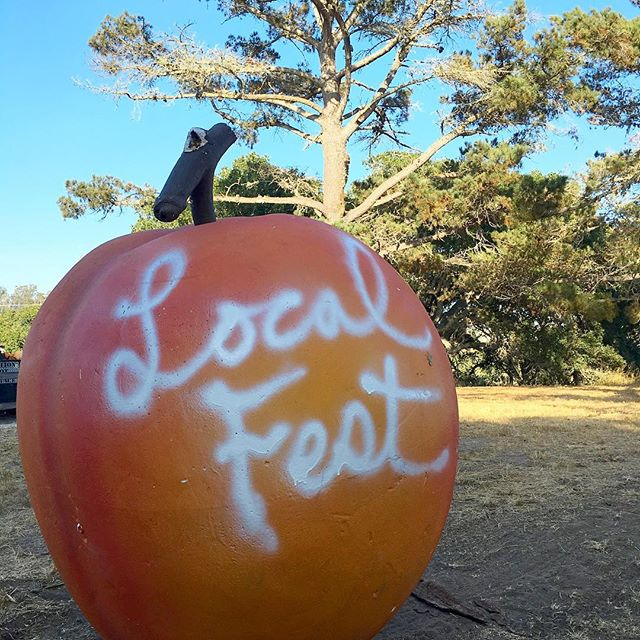 The notorious #localpeach which also starred in a @panicatthedisco photoshoot  at one point 🍑😜👍🏼 Come tag it and make your mark tomorrow at Local Fest #localart #santabarbaracounty