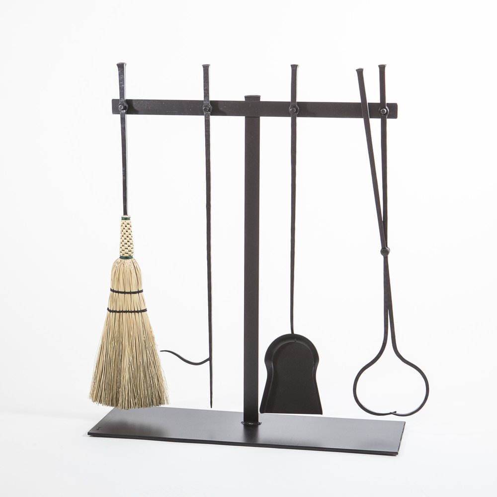 Pegged Fireplace Tools & Stand