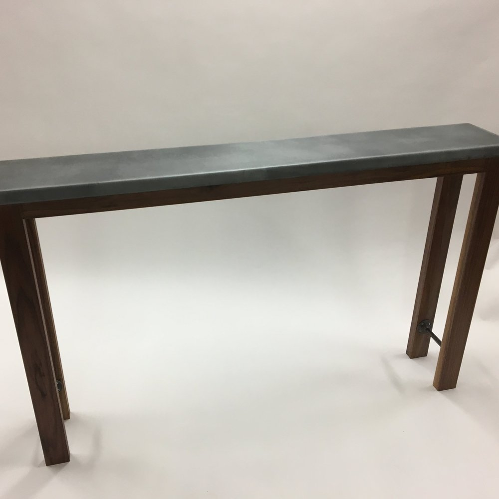 Zinc Top Sofa Table