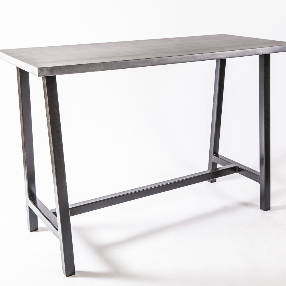Zinc Top High Top Table