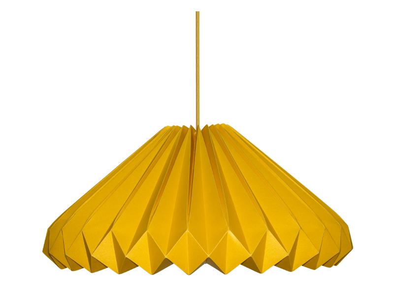 luminária-de-papel-diamante-amarela