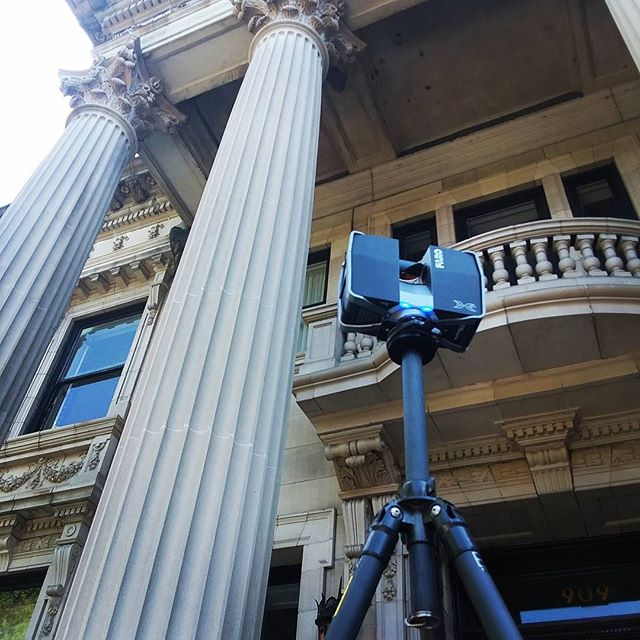 Scanning column capitals in Richmond, VA. #laserscanning #historical #historicpreservation #architecture #ornate #prologue #historicrichmond